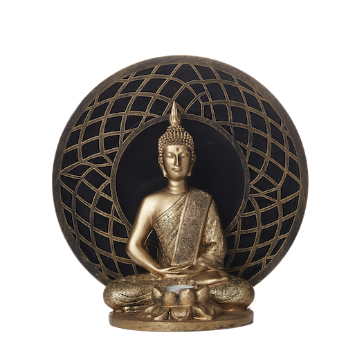 Figurine Candle Holder - Buddha - Lotus